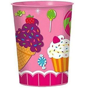 Sweet Shop Plastic 16 Ounce Reusable Keepsake Cup